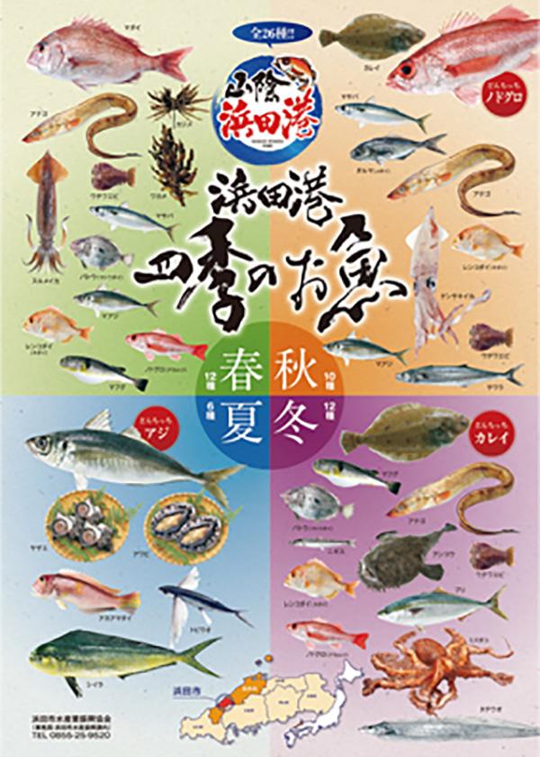 「浜田港四季のお魚」ポスター