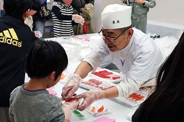 子どもお寿司握り体験