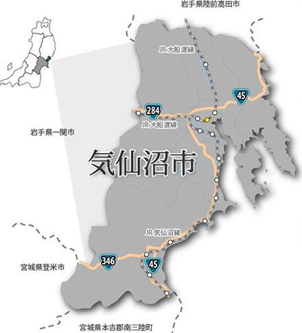 気仙沼市地図