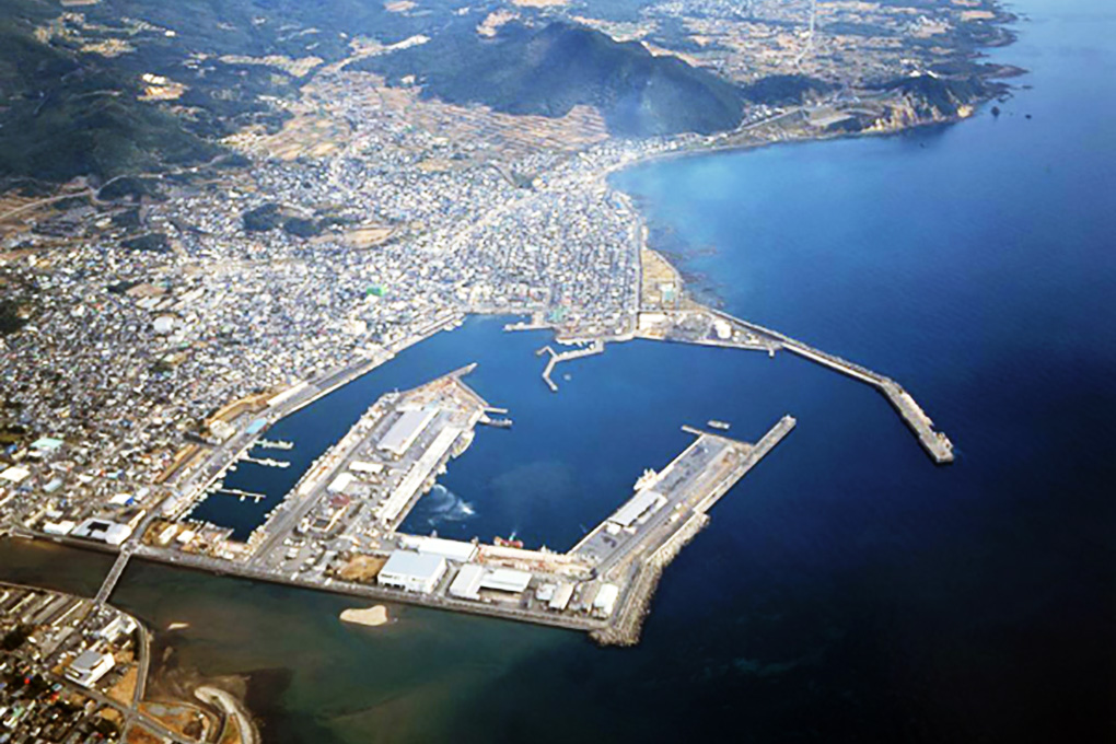 枕崎漁港の風景